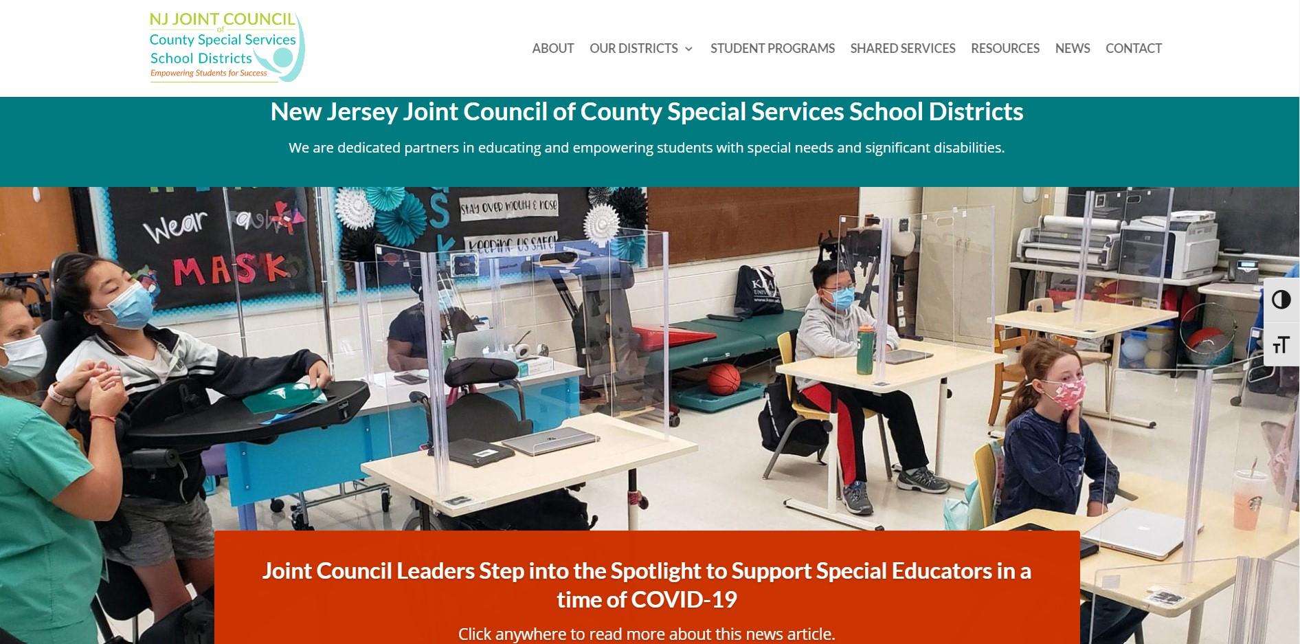 Joint Council website screenshot