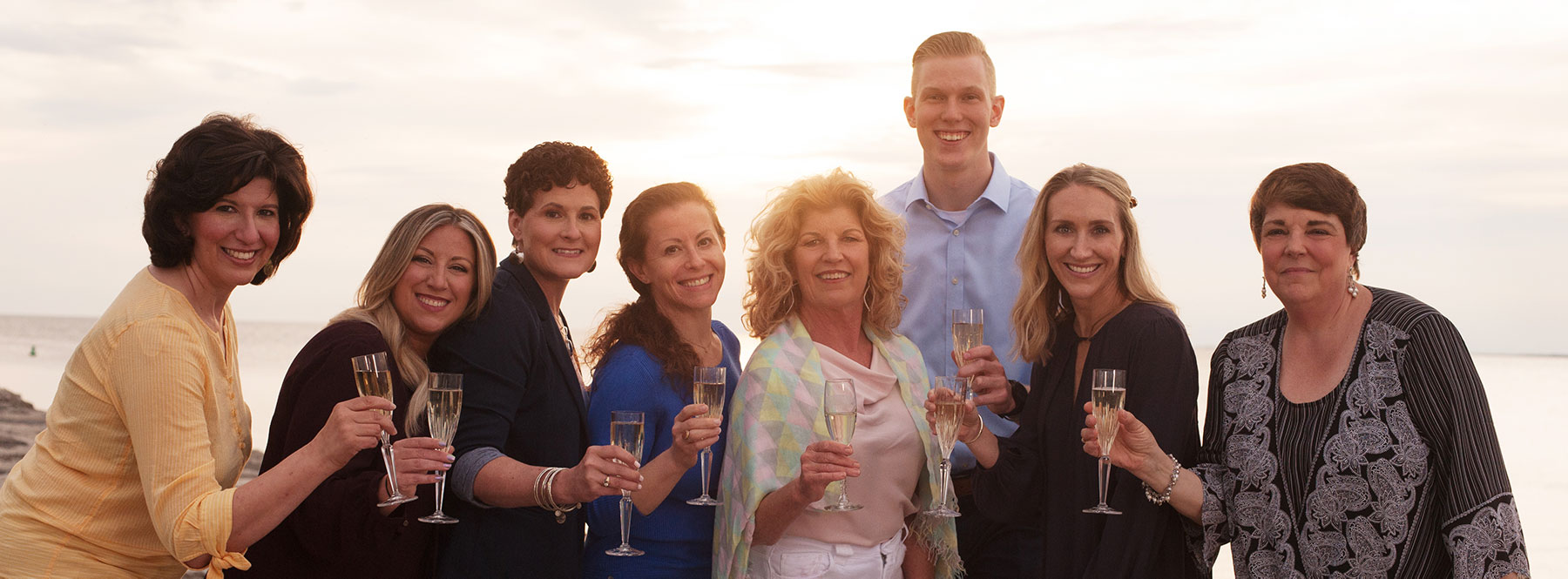 The Laura Bishop Communications Crew toasts to its 10th Anniversary